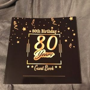 Other - New 80th Party Guest Book